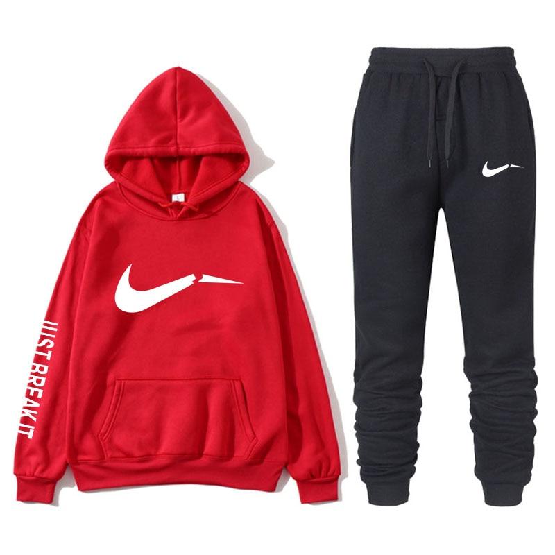 New Fashion Sweatshirt Sportswear Hot Selling Thicken Sportswear Hoodie Pants Sports Jogging Wear Harajuku Style Lovers Set