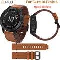 Кожаный ремешок для часов Garmin Fenix 6 pro 5/5 Plus  быстросъемный сменный Браслет 22 мм для Forerunner 935 945  легко подходит