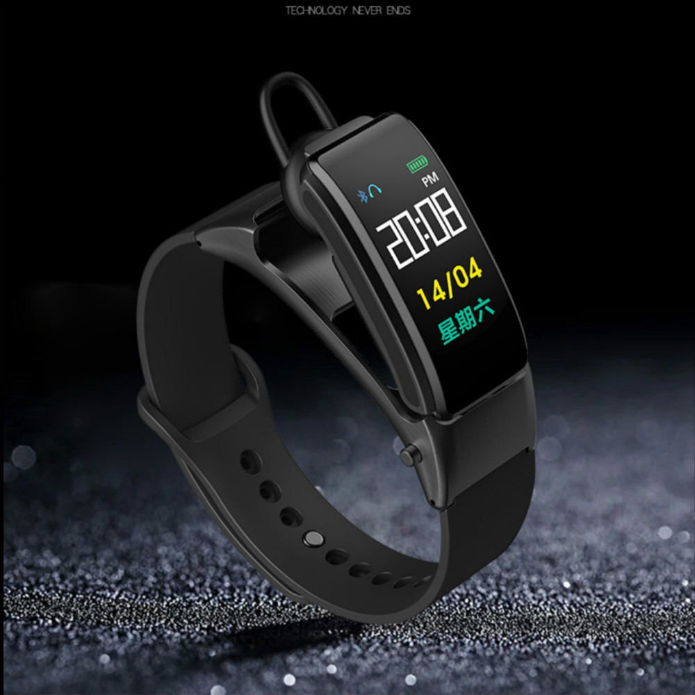 New B31 Smart Band Colorful Screen Bluetooth Headset Talk Bracelet Blood Pressure Heart Rate Sleep Monitor Sport Wristband