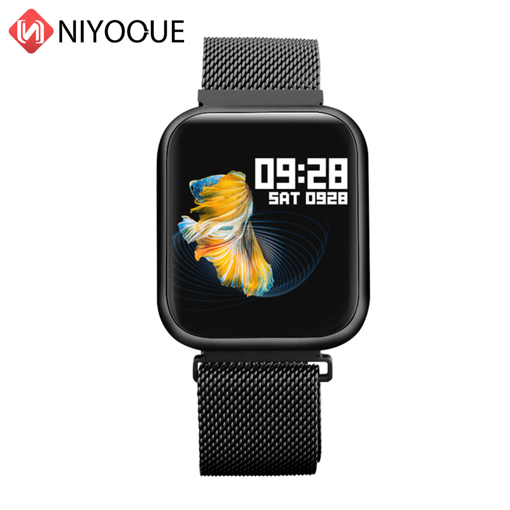 P80 Bluetooth Smart Watch Full Touch Screen Heart Rate Message Remind Ip68 Waterproof Smartwatch For Apple Xiaomi Samsung Phone
