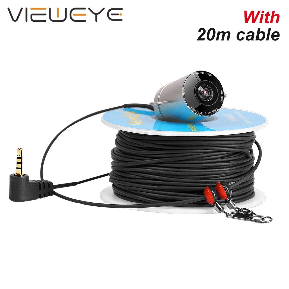 ViewEye V02H pojedyncza podwodna kamera wędkarska lokalizator ryb 6 sztuk lampa podczerwień IR LED 20m kabel do 4.3 Cal z rekordem w Wykrywacze ryb od Sport i rozrywka na AliExpress - 11.11_Double 11Singles' Day 1