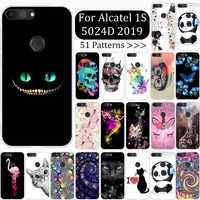 Para Alcatel 1S 2019 Funda de silicona Funda para Alcatel 1S 5024d Funda suave TPU bonito Funda de dibujos animados Capa para Alcatel 1S 2019 Funda