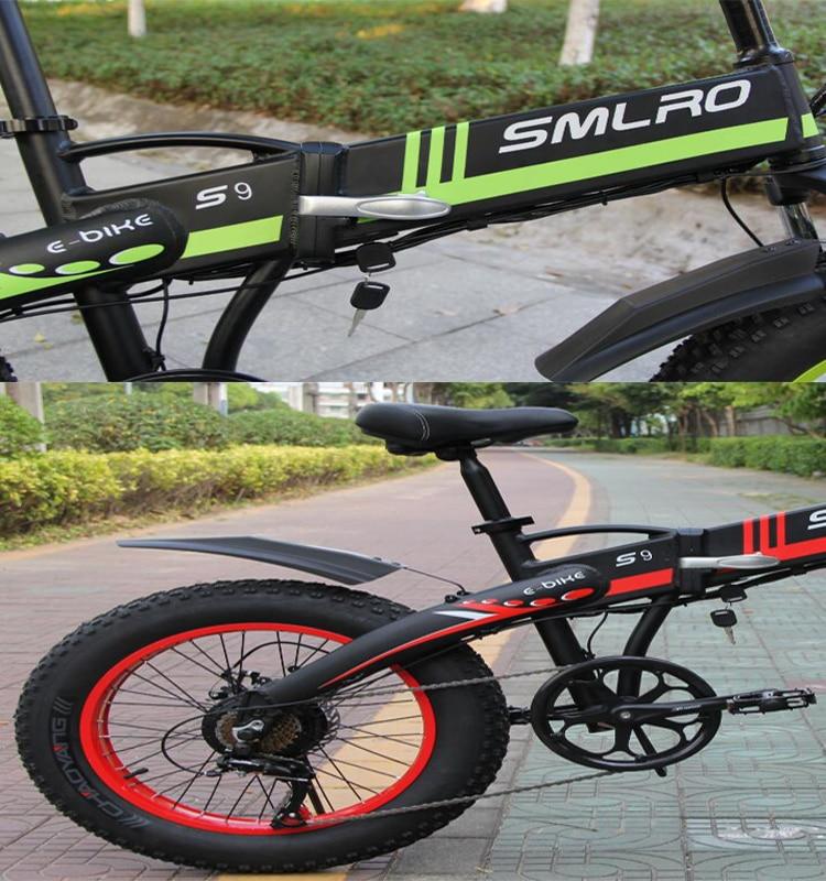 S9F China manufacturer 20 inch e bike 48v 1000w Bafang Motor fatbike 14AH Sam sung battery folding electric bike 13