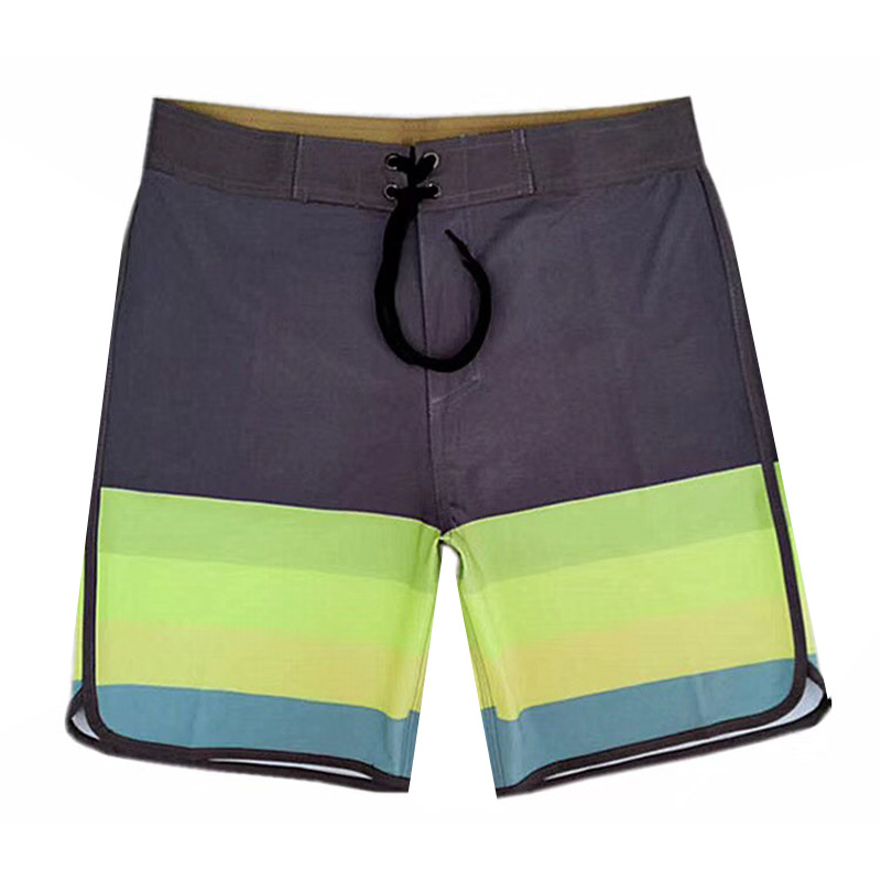 Summer Travel Beachwear Men's Beach Shorts Surf Bermuda Swimsuit Print Striped Quick Dry Boardshorts Plus Size Drop Shipping