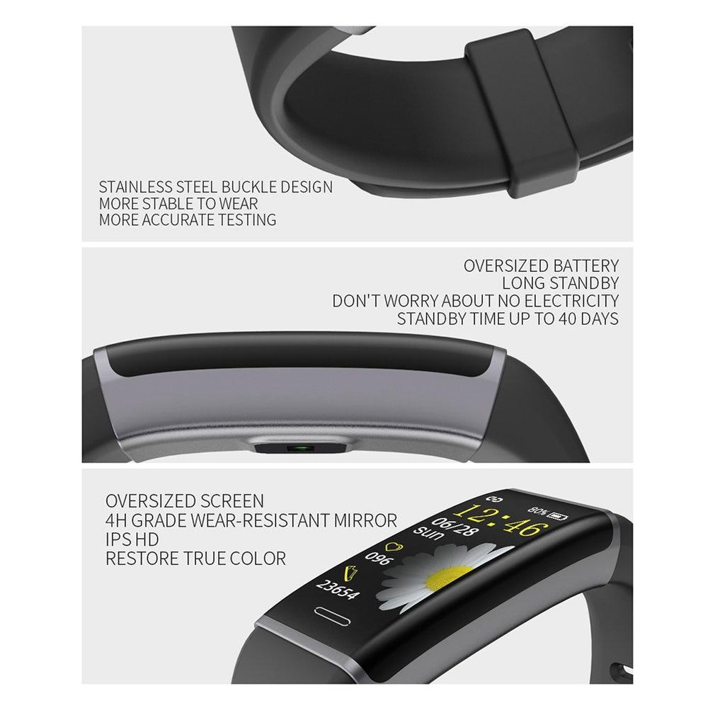 CB03 смарт браслет Браслет фитнес трекер монитор сердечного ритма часы здоровья сердечный браслет водонепроницаемый смарт браслет