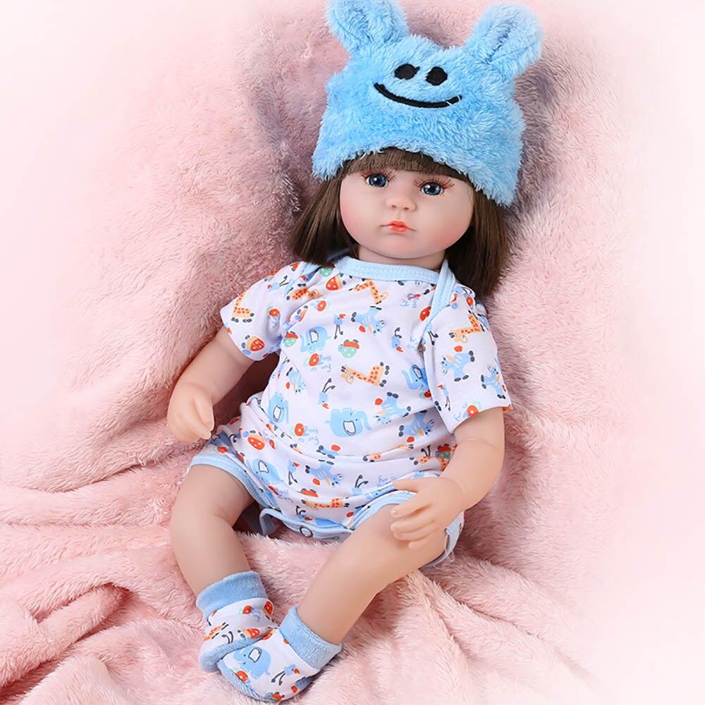 Новинка, 42 см, Кукла Реборн, 17 дюймов, Реалистичная кукла для новорожденных, игрушка для девочек, для малышей, голубые глаза, подарок на день р...
