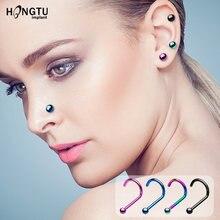 8 шт модное цветное кольцо для носа панк ухо хрящ шпилька 20