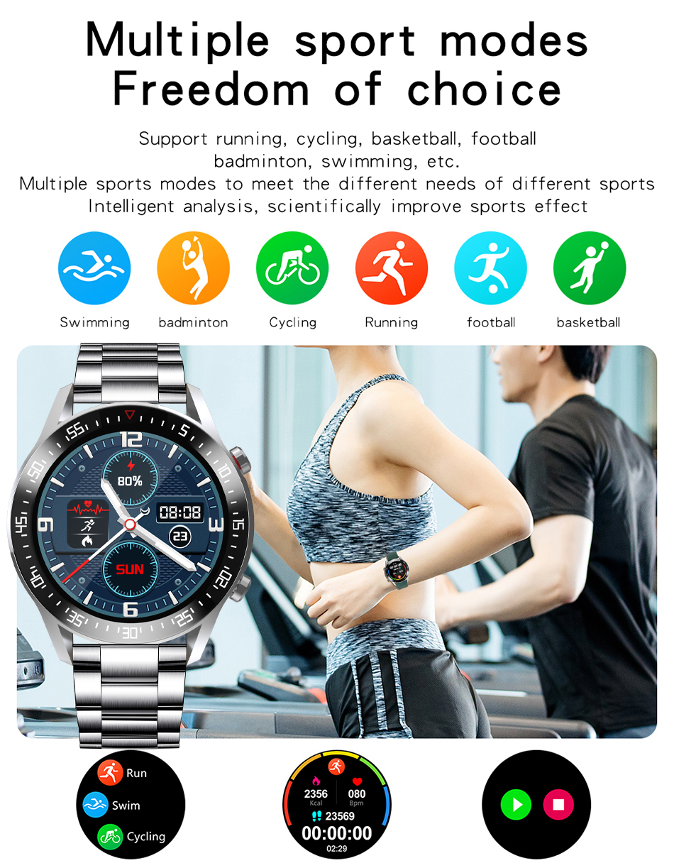 H158a6f64380c4b4b816f43b353ef8bf3y LIGE New Smart watch Men Full touch Screen Sports Fitness watch IP68 waterproof Bluetooth Suitable For Android ios Smart watch