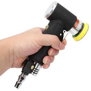 Image 2 - Mini Luft Winkel Sander 90 Grad Pneumatische Polieren Schleifen Maschine + 2 zoll 3 zoll Schleifen Pad 16000rpm Luft winkel Polierer
