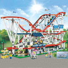 18003 With Motor Creator Expert Roller Coaster Technic Set Buidling Blocks Bricks Compatible legoingLYs 10261Birthday Gifts Toys(China)