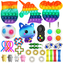Fidget Toys Anti Stress Toy Set Stretchy Strings Mesh Marble Relief Gift for Adults Girl Children Sensory Antistress Relief Toys