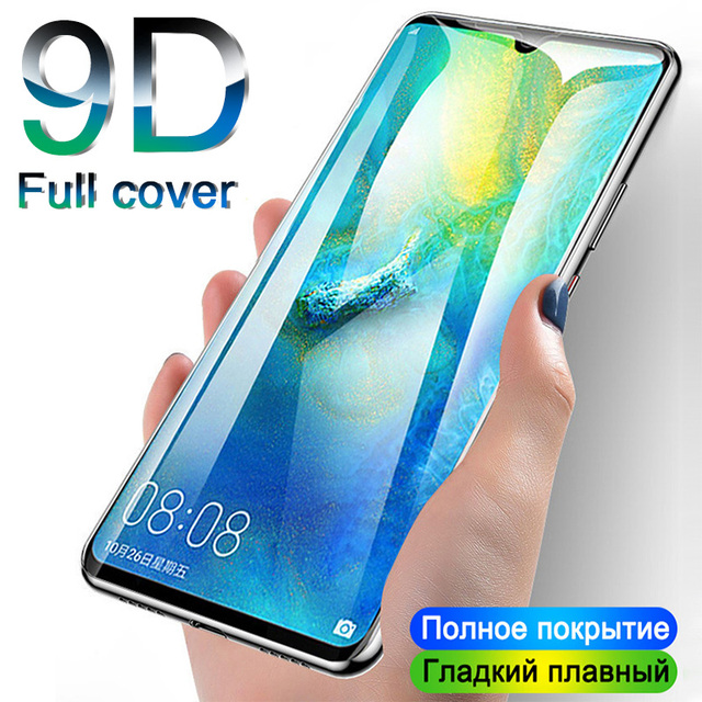 9D Protective Glass For Huawei Mate 20 10 P20 P30 lite Pro Full Cover Screen Protector on For Honor 10 9 lite Tempered Glass