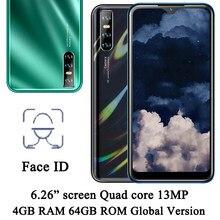 Gesicht ID A51 Quad core Globale version 13MP wasser tropfen bildschirm 6.26