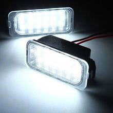 2 шт. номерной знак светильник для Ford KUGA S MAX мы собрали воедино MONDEO MK4 MK5 MK2 FIESTA 2008-2019 фокус ABS Пластик 12V светодиодный номерной знак сигнальные с...