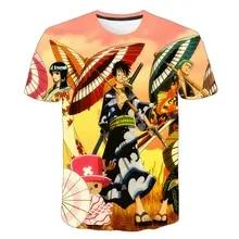 Anime ONE PIECE T-Shirt Luffy Roronoa Zoro Print Mens Teens Casual Tee Shirt Top
