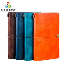 Leather Notebook PU Journal Notepad Refillable Travel journal Travelers Custom Handmade Vintage Cover Text Glosen