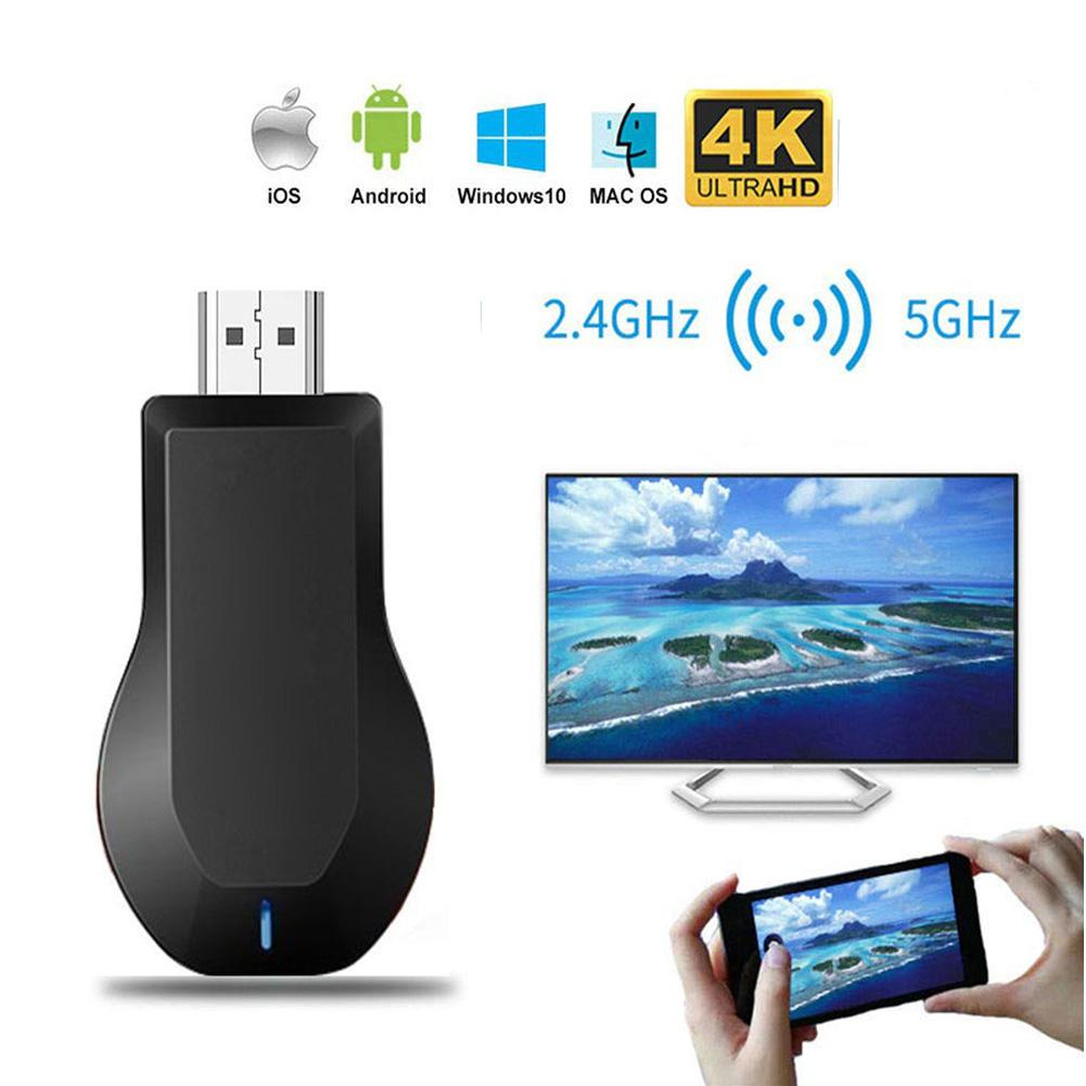 High Quality HDMI Wireless Display Receiver 2.4 /5G WiFi 4K 1080P Mobile Screen Cast Mirroring Adapter For Miracast Airplay DLNA