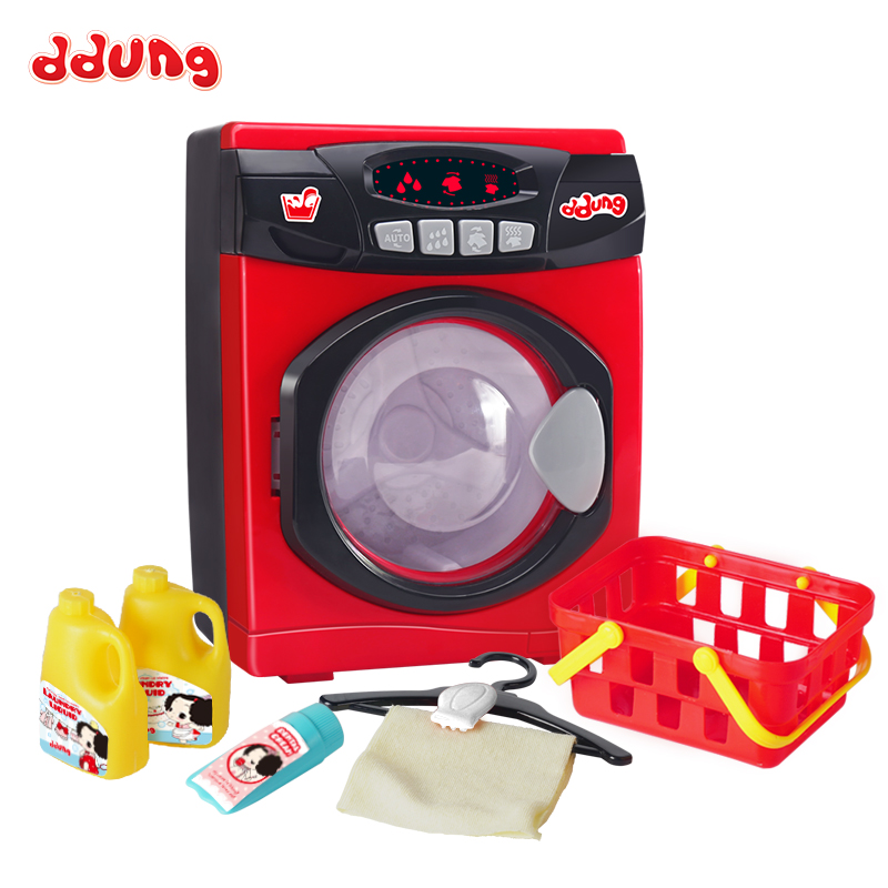 Ddung Baby Pretend Play Toys Electric Simulation Sound & Light 3Y+ Drum Washing Machine Dry Clothes Kids Housework Toys