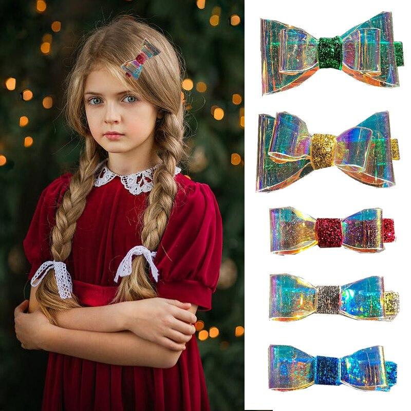 1Set Fantasy Glitter Transparent Bow Hair Clips For Women Girls Headband Princess Hairpins Barrettes Hairband Hair Accessories