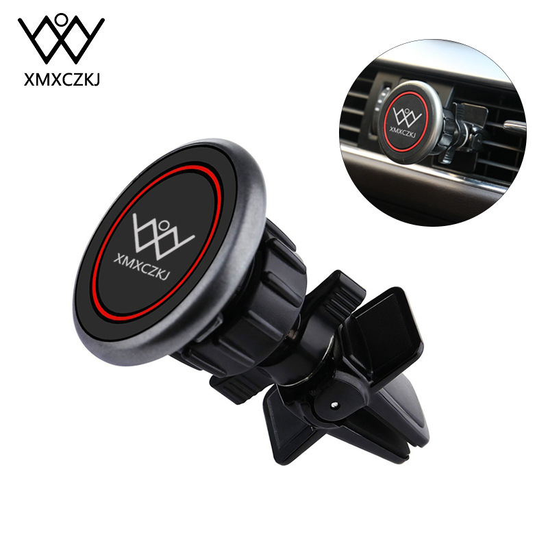 XMXCZKJ Universal Car Phone Holder 360 Degree Twist-Lock Magnetic Air Vent Mount Phone Stand For IPhone Holder For Phone In Car