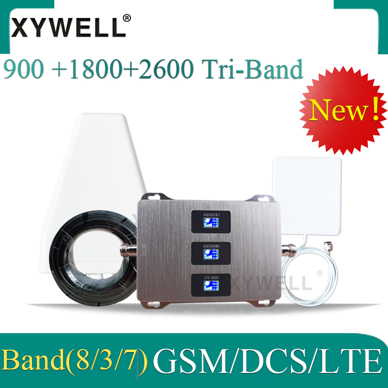 New!! 900/1800/2600mhz Cellular Signal Booster GSM 900 DCSLTE 1800 FDD LTE 2600 GSM Mobile Signal Booster 4g Cellular Repeater