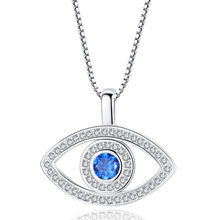 VOHE Luxury Blue Cubic Zirconia Evil Eye สร้อยคอชุบ(China)
