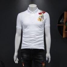 Wysokiej jakości męska koszulka Polo moda 2020 letnia koszulka Polo z krótkim rękawem koszula mężczyźni Slim Fit bawełna Casual Polo Homme Plus rozmiar 5XL M