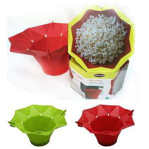 Easy-Tools Bowl-Maker Bucket Popcorn Microwave Kitchen Foldable Silicone New Hot Red