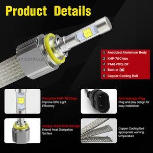 Image 4 - 2PCS Car LED Headlight H11 Kit H4 H7 H8 H9 H16 9005 HB4 HIR2 xhp70 6000K 110W 13200LM 9004/7 H13  D2H D2S Auto Styling Fog Lamps
