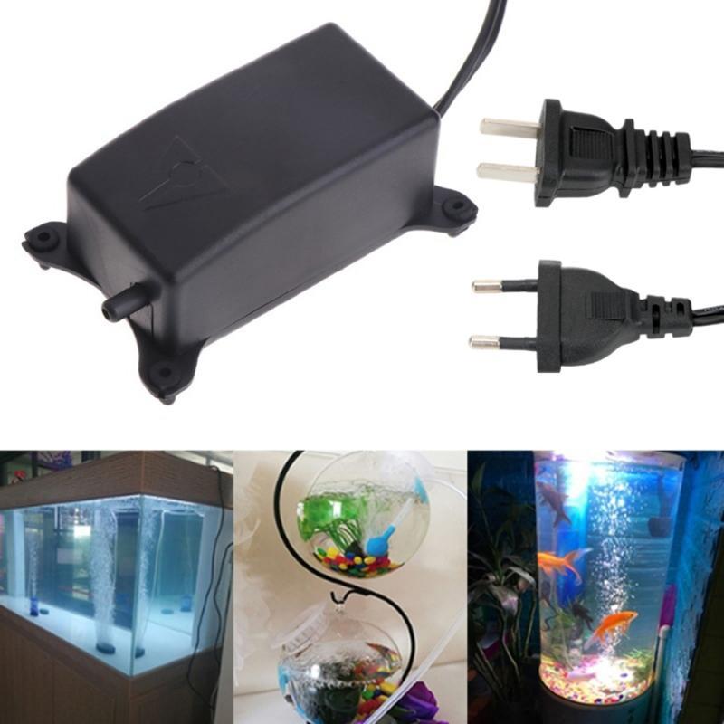 Ultra Low Noise Aquarium Air Pump Fish Tank Mini Air Compressor Oxygen Pump Aquarium Fish Tank Oxygen Pump  Hose Air Stone