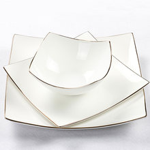 Квадратная обеденная тарелка из Европейского костяного фарфора