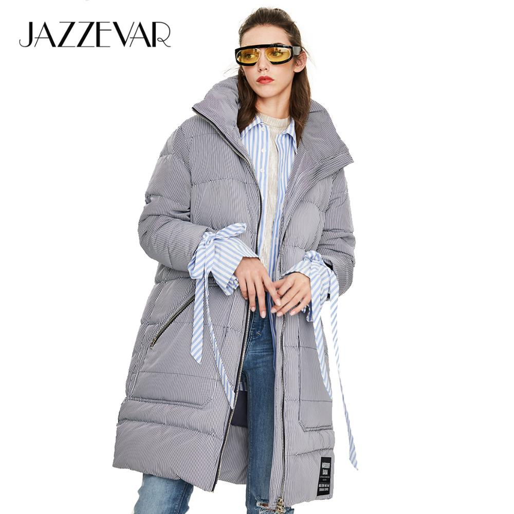 JAZZEVAR 2019 Winter new arrival women down jacket gray color outerwear loose clothing high quality winter coat women Y9060(China)