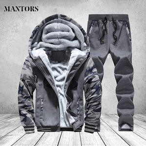 Hooded Parka Tracksuit Winter Coat Men Clothing Thick Camouflage Brand Warm Fleece Windproof