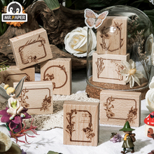 Mr.Paper 8 Designs Fairy and Forest Series Wooden Rubber Stamp For Scrapbook Decoration Planner DIY Craft Wooden Stamp