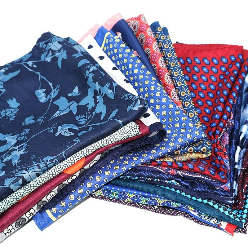 10 Pieces Set 32 CM Large Handkerchief Man Paisley Flower Dot Pocket Square Men Paisley Casual Hankies For Men's Suit Wedding