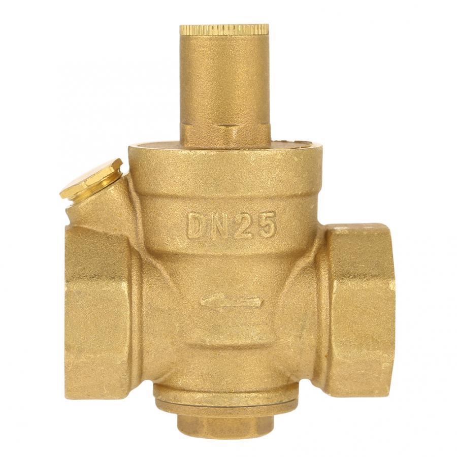 DN25 1 Adjustable Brass Water Pressure Reducing Regulator Valve PN 1.6 New