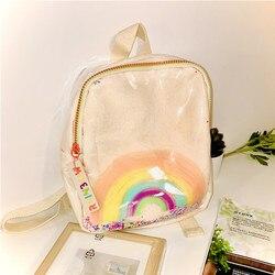 2020 nowe pluszowe przezroczyste cekiny Rainbow School Bag przedszkole dzieci plecak kolor list Ornament plecak