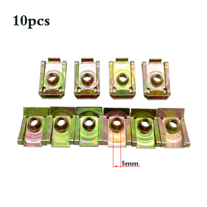 10 Pcs U-Type Car Clips Rivets M5 M6 M8 For Car Motor Tread Panel Spire Nut Fairing Clip Fastener Speed Metal Mounting Clamp