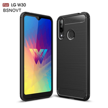 For LG W30 Case Soft TPU Silicone Bumper Shockproof Dirt-resistant Phone Case For LG W30 Cover For LG W30 Funda 6.26 inch BSNOVT цена