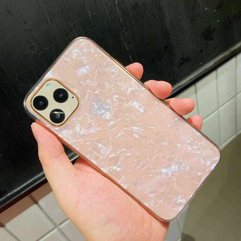 Sparkle and  Crystal Clear Phone Case For iPhone X XR XS 11 Pro Max 8 7 6 6s Plus with Glitter Shell Pattern 8