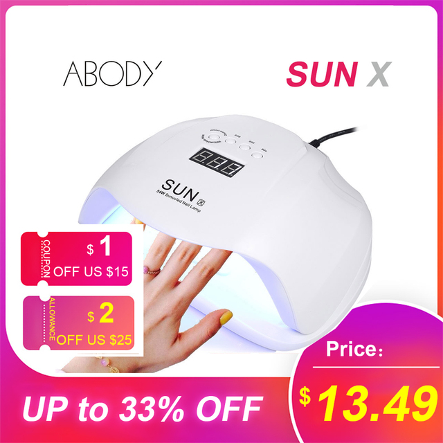 Abody SUN X 40W/54W/80W UV Lamp LED Ice Lamps Nail Gel Polish Dryer Manicure Machine for SUNone all gel nails Art Curing X9plus