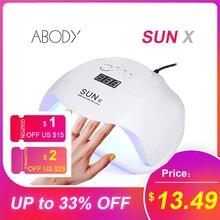 Abody SUN X 40W/54W/80W lampa UV LED Ice lampy żelowy lakier do paznokci suszarka maszyna do Manicure dla SUNone wszystkie paznokcie żelowe Art utwardzania X9plus