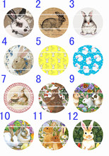 Handmade10~25mm Colorful picture EASTER Retro Round Glass Cabochons for Necklace Decoration and Phone Chain Accessaries 60pc-601(China)