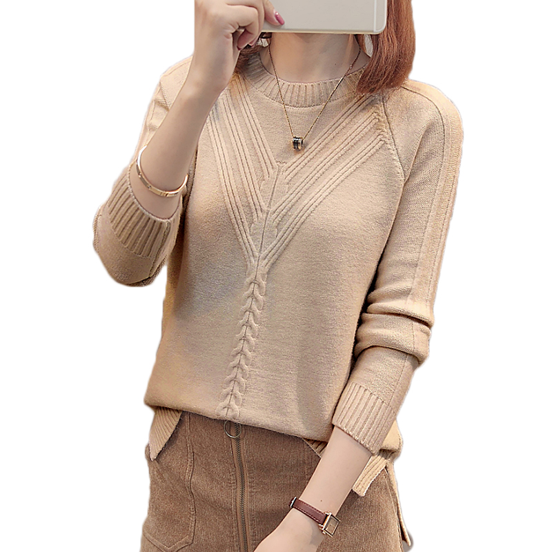 Winter Women Pullover Sweater Fashion Autumn Plus Size Sweaters O-neck Knitwear Loose Knitted Sweater Female Slim Casual Tops