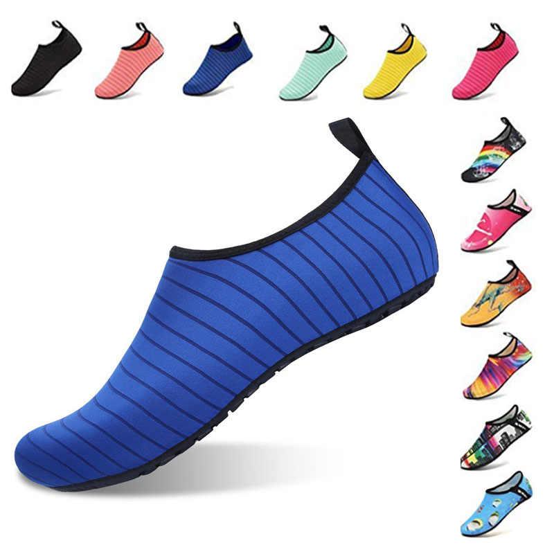 Aqua ayakkabı yaz ayakkabı erkekler nefes kadın Sneakers yetişkin plaj terlikleri memba ayakkabı yüzme dalış çorapları Tenis Masculino