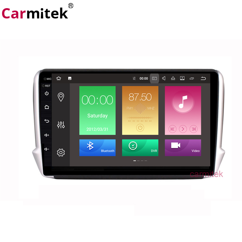 10'' 2.5D Android 9.0 Car GPS Multimedia For <font><b>Peugeot</b></font> 2008 <font><b>208</b></font> CAR DVD Player2014 2015 2016 2017 2018 <font><b>Radio</b></font> Bluetooth image