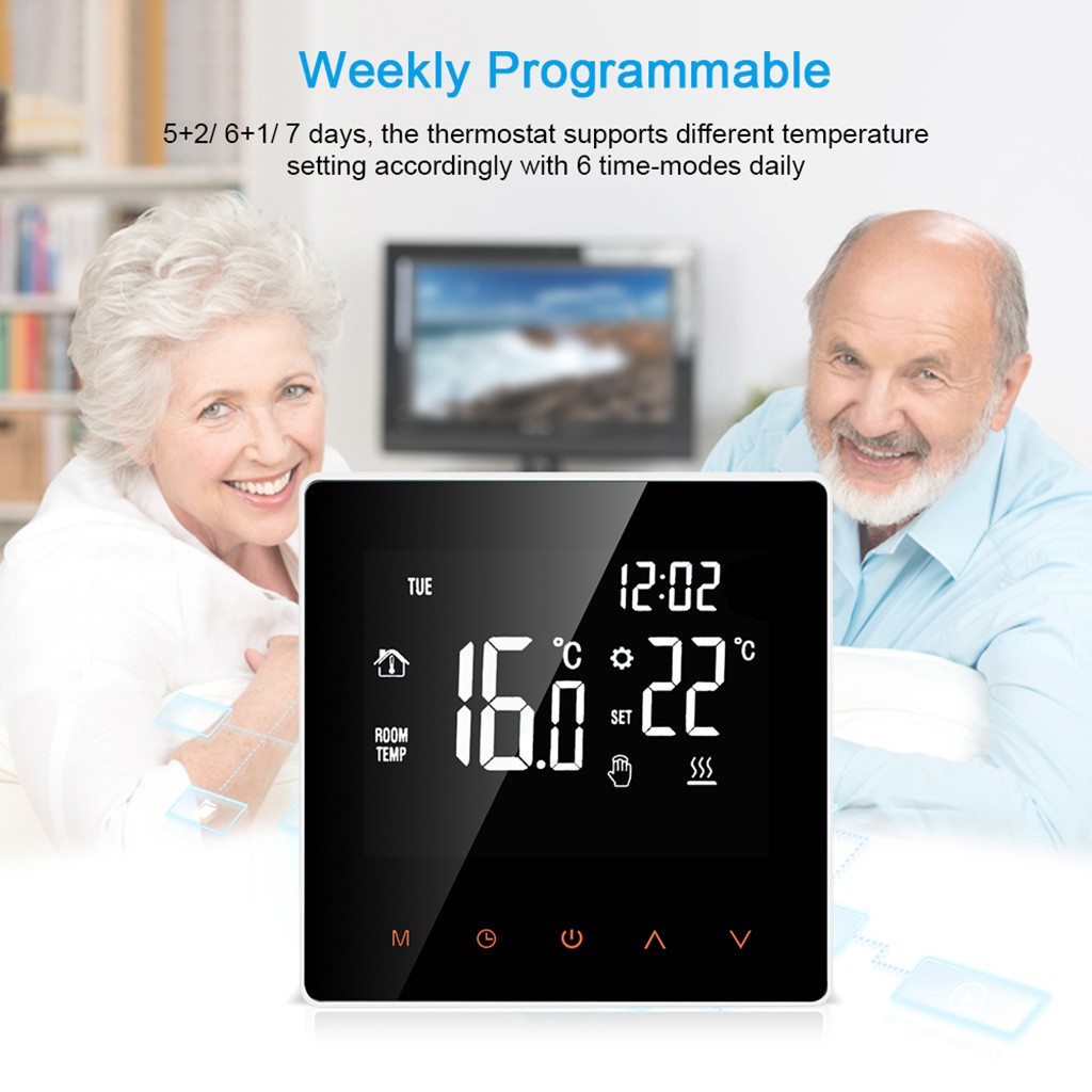 2020 Smart Digital APP Thermostat AC 230V 50 / 60Hz Programmable Heating Thermostat Temperature  Screen Dropshipping #2433