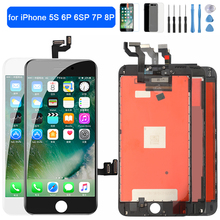 AAA+++ LCD Display For iPhone 5S 6P 6SP touch Screen replacement Digitizer Assembly for iPhone 7P 8Plus LCD Screen No Dead Pixel