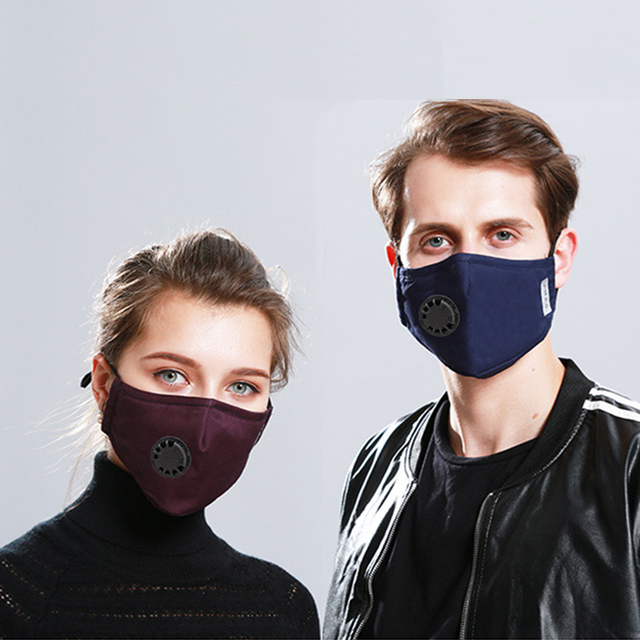 Kpop Cotton Black Mask Mouth Face Mask Anti PM2.5 Dust Mask with 2pcs Activated Carbon Filter Korean Style Mask Fabric Face Mask 2