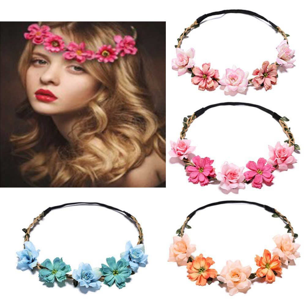 21 estilos de tiara de cabelo para casamento, elegante, doce, rosa, flor, coroa, moda feminina, praia, viagem, acessórios de cabelo